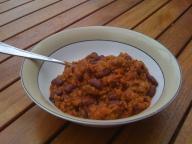 Chili con carne - sans rice!